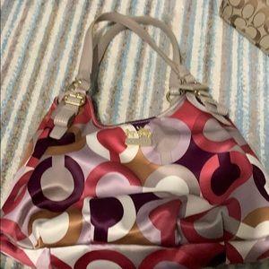Coach colored print purse